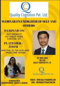 Recent online Webinar Organized by our QCPL Team